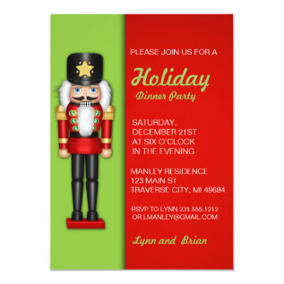 Nutcracker Christmas Party Invitation at Zazzle