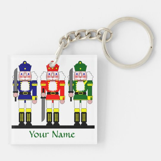 Nutcracker Christmas Personalized Keychain