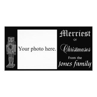 Nutcracker Christmas photo card