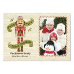 Nutcracker Christmas Photo Card Invite
