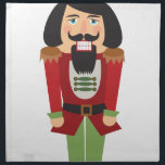 "Nutcracker Cloth Napkin<br><div class=""desc"">Make Christmas magically sweet with this nutcracker embroidery design on kitchen linen,  throw pillows,  clothing and more!</div>"