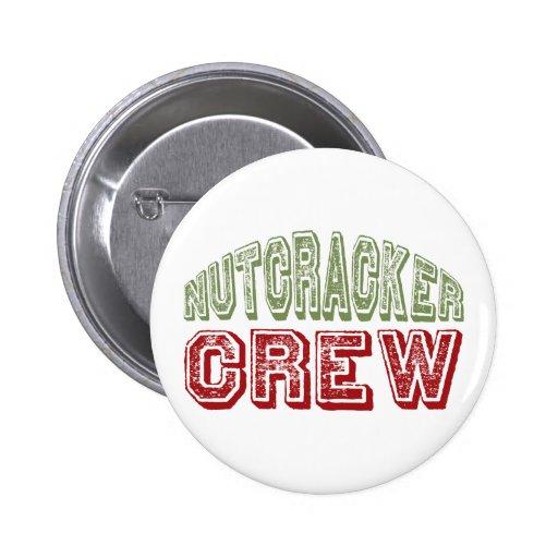 Nutcracker Dance Crew Design for Christmas 2 Inch Round Button