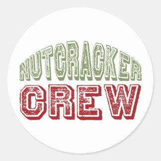 Nutcracker Dance Crew Design for Christmas Classic Round Sticker