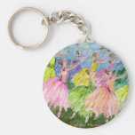 Nutcracker Dance of the Flowers Basic Round Button Keychain