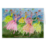 Nutcracker Dance of the Flowers Greeting Card