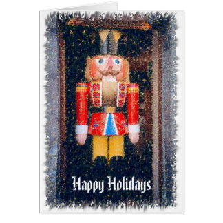 "NUTCRACKER, ""HAPPY HOLIDAYS"" MANIP. PHOTO CHRISTMA CARD"