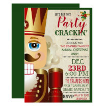 Nutcracker Holiday Christmas Invitation
