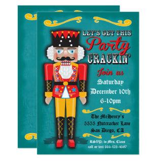 Nutcracker Holiday Christmas Party Invitation at Zazzle