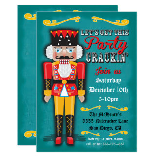 Nutcracker Holiday Christmas Party Invitation