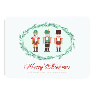 "Nutcracker Holiday Photo Card 5"" X 7"" Invitation Card"