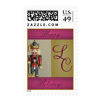 Nutcracker Holiday with Initials Postage