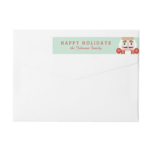 Nutcracker Holiday Wraparound Labels Wraparound Return Address Label