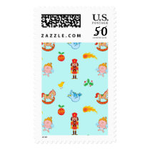 Nutcracker, horse, angel and bird Xmas pattern Postage