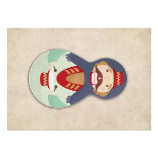 Nutcracker, Matroshka, Russian doll, babushka Large Business Card