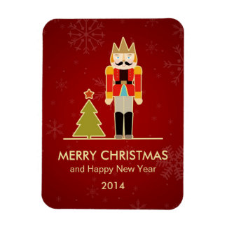 Nutcracker Merry Christmas and Happy New Year 2014 Magnet
