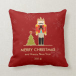 Nutcracker Merry Christmas and Happy New Year 2014 Pillow