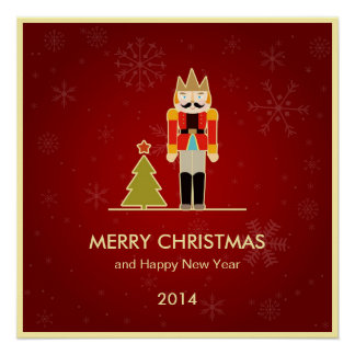 Nutcracker Merry Christmas and Happy New Year 2014 Poster