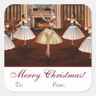 Nutcracker Merry Christmas Gift Tag Stickers