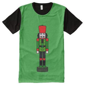 Nutcracker on Duty at Christmas All-Over Print T-shirt