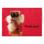 nutcracker on red thank you card