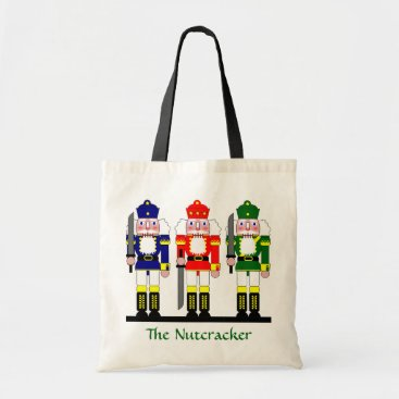 Christmas Themed Nutcracker Personalized Christmas Ballet Gift Tote Bag