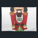 """Nutcracker Placemat<br><div class=""""desc"""">Make Christmas magically sweet with this nutcracker embroidery design on kitchen linen,  throw pillows,  clothing and more!</div>"""