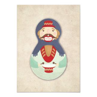 "Nutcracker, Russian doll christmas card 4.5"" X 6.25"" Invitation Card"