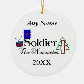 Nutcracker Soldier Ceramic Ornament