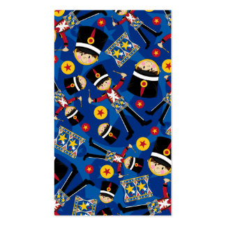 Nutcracker Soldier Playing Drums Bookmark Business Card