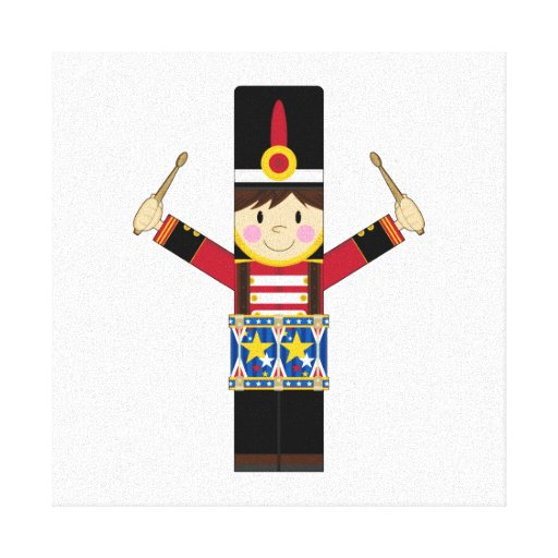 Nutcracker Soldier Playing Drums Canvas Gallery Wrapped Canvas