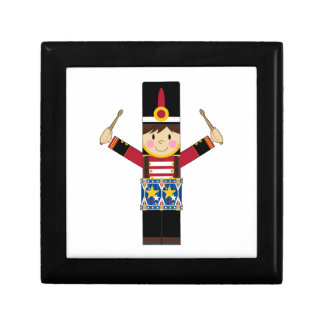 Nutcracker Soldier Playing Drums Gift Box