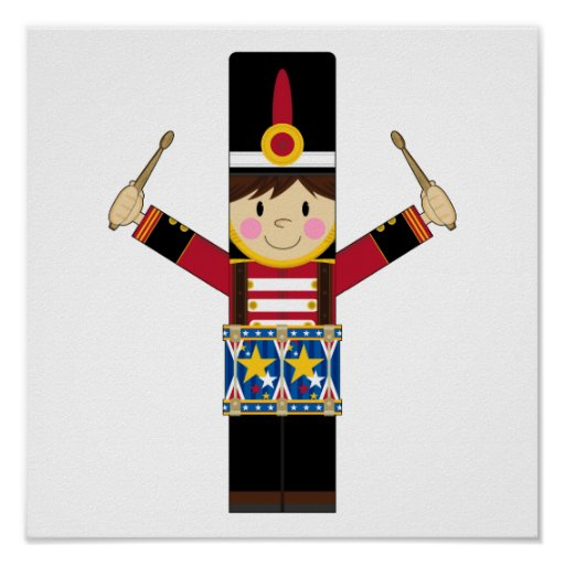 Nutcracker Soldier Playing Drums Print