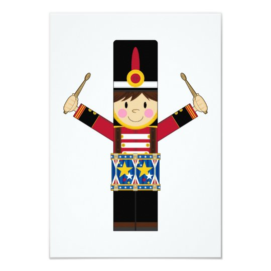 Nutcracker Soldier Playing Drums RSVP Card