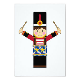 """Nutcracker Soldier Playing Drums RSVP Card 3.5"""" X 5"""" Invitation Card"""