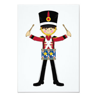 Nutcracker Soldier Playing Drums RSVP Card Invitations