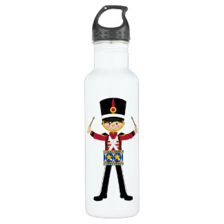 Nutcracker Soldier Playing Drums Stainless Steel Water Bottle