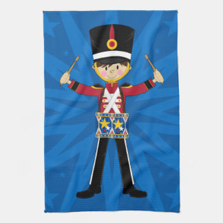 Nutcracker Soldier Playing Drums Towel