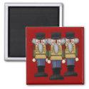 Nutcracker Square Christmas Magnet magnet
