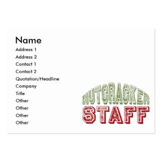 Nutcracker Staff Christmas Ballet Design Large Business Card