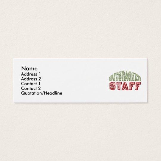 Nutcracker Staff Christmas Ballet Design Mini Business Card