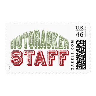 Nutcracker Staff Christmas Ballet Design Postage Stamp