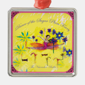 Nutcracker Sugar Plum fairy Metal Ornament