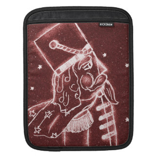 Nutcracker Toy Solder in Cranberry Red Sleeve For iPads