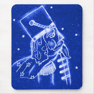 NUTCRACKER TOY SOLDIER in Bright Blue Mouse Pad