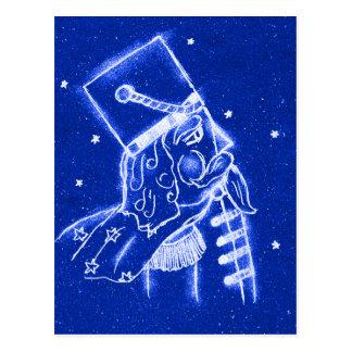 NUTCRACKER TOY SOLDIER in Bright Blue Postcard