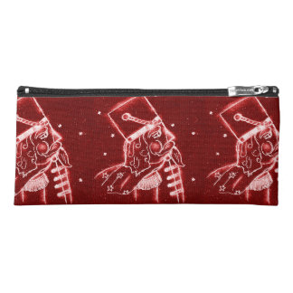 Nutcracker Toy Soldier in Bright Red Pencil Case