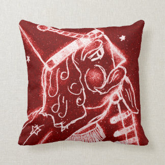 NUTCRACKER TOY SOLDIER in Bright Red Pillow