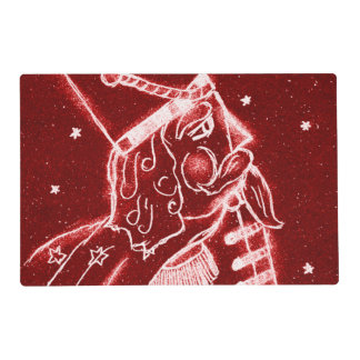 NUTCRACKER TOY SOLDIER in Bright Red Placemat