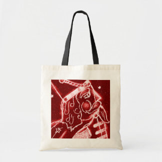 NUTCRACKER TOY SOLDIER in Bright Red Tote Bag