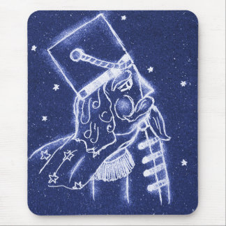 NUTCRACKER TOY SOLDIER in Light Blue Mouse Pad